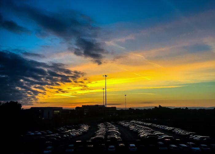 Sunrise Airport Carpark Colors Cloud - Sky Scenics No People Beauty In Nature Early Morning