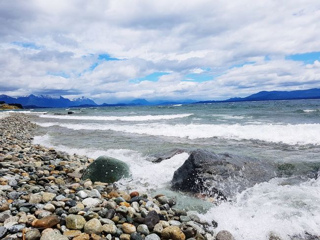 #nahuelhuapi #patagonia Lake Nahuel Huapi Beach Landscape Cloud - Sky Nature Outdoors Water Sky Travel Destinations first eyeem photo