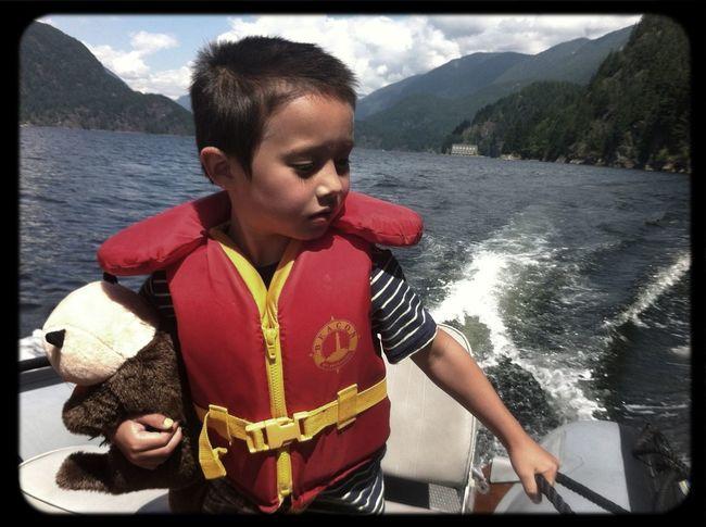 boy on a boat Boating