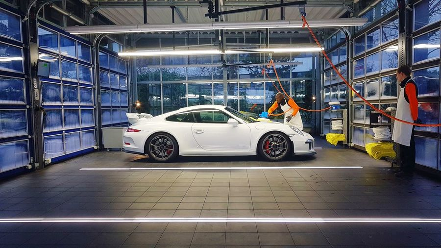 the full service Porsche Car Transportation Mode Of Transport Land Vehicle Indoors  Automobile Industry No People Racecar Day EyeEmNewHere