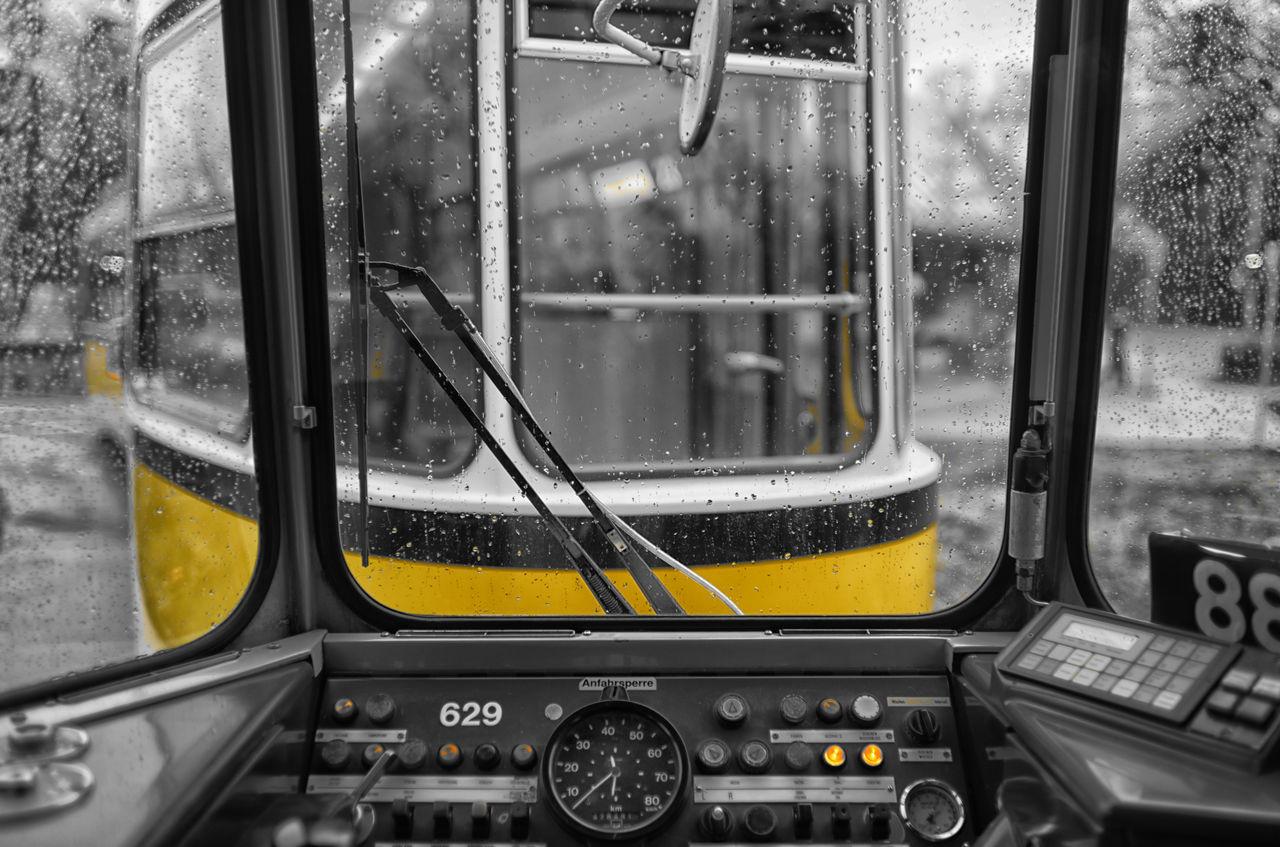 CLOSE-UP OF TRAIN ENGINE