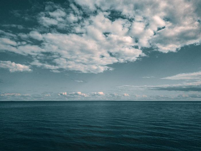 Water Sea Sky Scenics - Nature Cloud - Sky Beauty In Nature Tranquil Scene Tranquility Waterfront Nautical Vessel Nature No People Idyllic Horizon Over Water Horizon Outdoors Day Rippled Blue