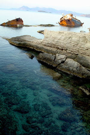Outdoors Power In Nature Rock Rock - Object Sea Ship Wreck Water Wreck