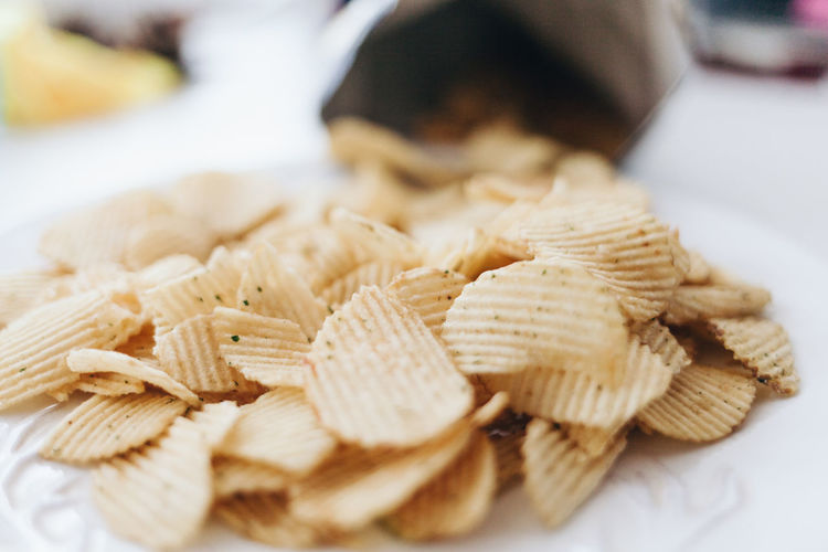 Chips Close-up Day Focus On Foreground Food Food And Drink Freshness Healthy Eating Indoors  One Person People