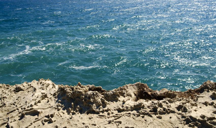 Apúlia Beach Beauty In Nature Blue Day Italy Lecce Melendugno Nature No People Outdoors Puglia Rock - Object Salento Salento Puglia Sea Sunlight Travel Destinations Water Wave