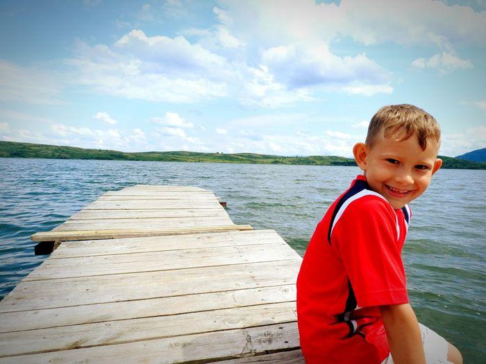Altaiski Krai Russian Nature EyeEm Nature Lover White Lake Blue Kolyvan Water Child Males  Boys Summer