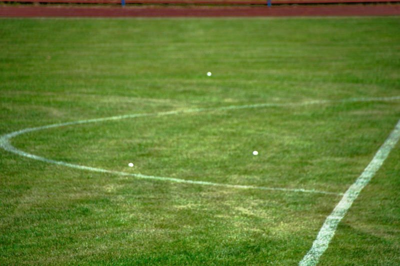 Connected By Travel Lost In The Landscape American Football - Sport American Football Field Competitive Sport Day Field Grass Green Color Nature No People Outdoors Playing Field Soccer Soccer Field Sport Sportplatz Stadium