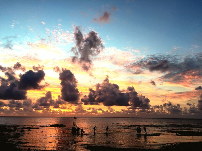 Talaud Sunset Fisherman Silhouette IPhone Iphonephotography