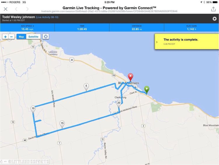 Road Bike Garmin Gps Thornbury #GreyBruceSimcoe amazing afternoon climbing around the west side of the Beaver Valley
