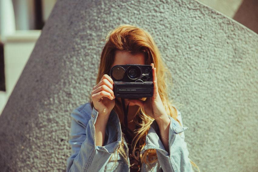 instagram.com/hanshassler Beautiful Camera Casual Clothing Day EyeEm Best Shots Long Hair Person Polaroid