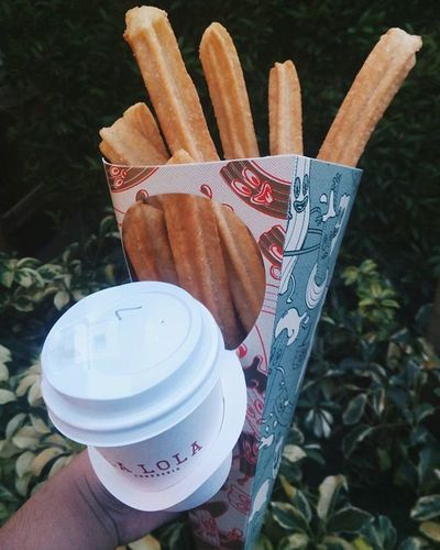Yey churros!! I've been craving for this! 😄 Chocolate Lalolachurreria LALOLAPH Churros Uptown Streetphotography Desserts Street Food Worldwide Street Food