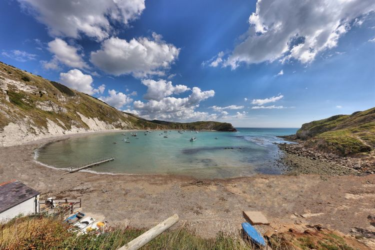 Dorset Water Sky Sea Tranquil Scene Tranquility Scenics Vacations High Angle View Travel Destinations Tourism Cloud - Sky Beauty In Nature Non-urban Scene Nature Day Outdoors Wide Cliff Rock Formation Wide Shot
