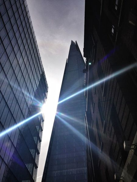 Still #lookingup and catching this amazing lense flare of the shard The Shard Awesome Architecture Lens Flare Sun Flare