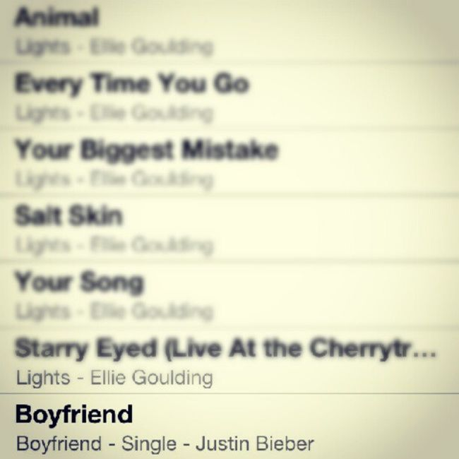 May18 LastsongaddedtomyiTunes Boyfriend Justinbieber <3