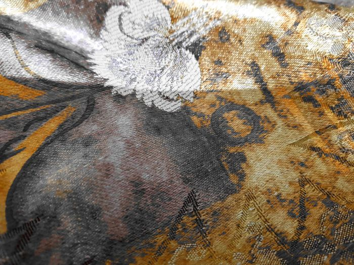 Backgrounds Full Frame Textile Textured  Crumpled Fabric Material Close-up