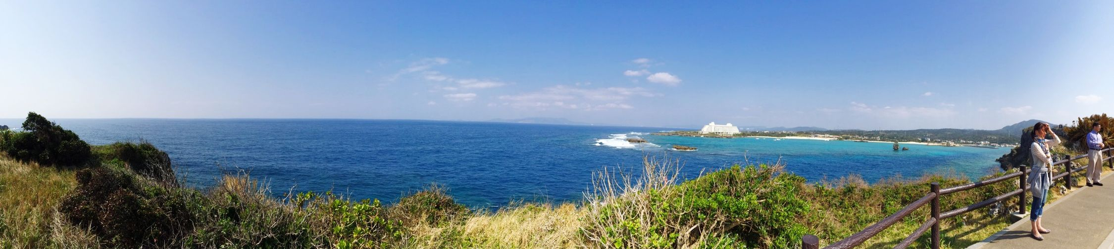 Sea Relaxing Okinawa Taking Photos Panorama