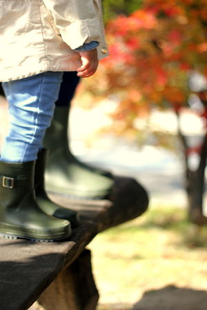 Mother and daughter standing with same green boots Autumn Baby Boots Green Color Kids Korea Mother And Daughter Red Leaves Seoul Standing Travel Tree Wanderlust Yellow Leaves Babygirl Ewha Womans University Foliage Garden Leaf Low Section Outdoors People Shoes Travel Destinations Trust