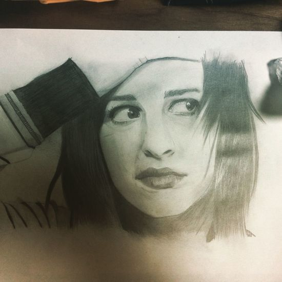 I drew Hayley Williams again :) Hayley Williams Paramore Beautiful Pencil Drawing Rock Band