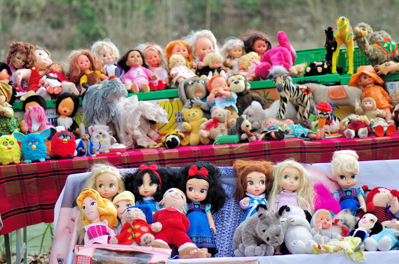 Group of people in toys