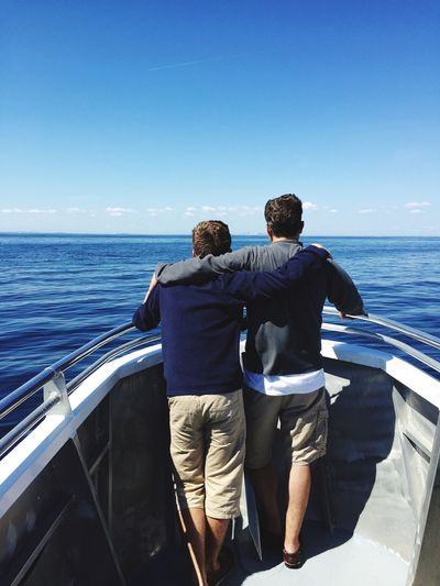 Fatherhood Moments Colour Of Life Enjoying Life Water Sea Ocean Boat Tranquility