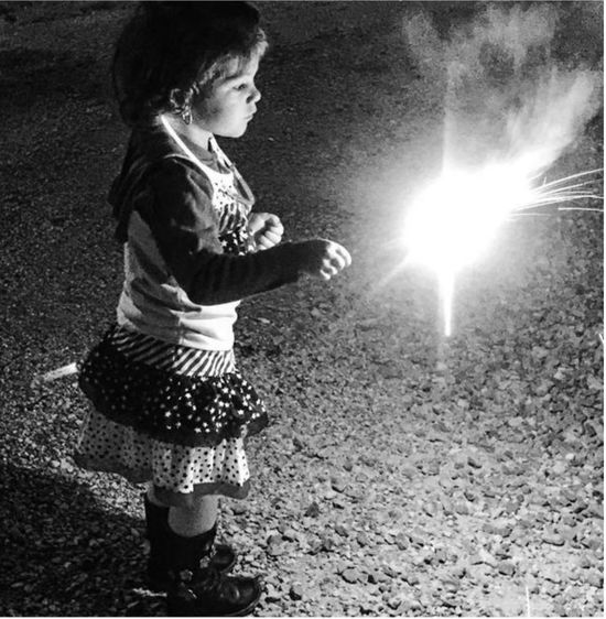 Childhood Children Only Child One Person One Girl Only Standing People Playing Full Length Night Outdoors Sparkler In Hand Toddlerlife Toddler Girl Independence Day Lexington KY