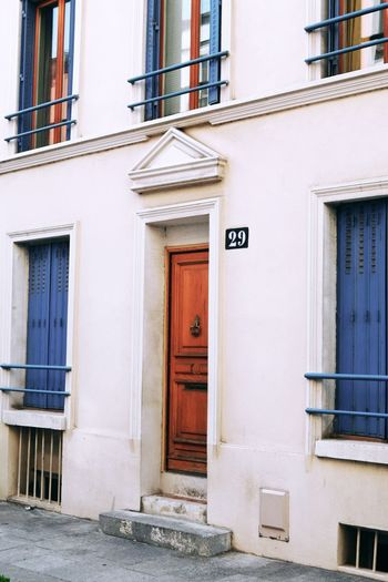 EyeEm Selects Architecture Building Exterior House Door Old-fashioned Façade Entrance Homesweethome Paris Blue City Downtown EyeEm Best Shots Street Street Photography Colors Blue Color Three Residential Building
