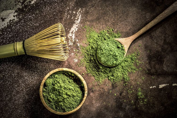 Matcha green tea Hot Drink Tea Zen Matcha Green Tea Still Life Table Indoors  No People High Angle View Close-up Kitchen Utensil Green Color Sunlight Nature Food And Drink