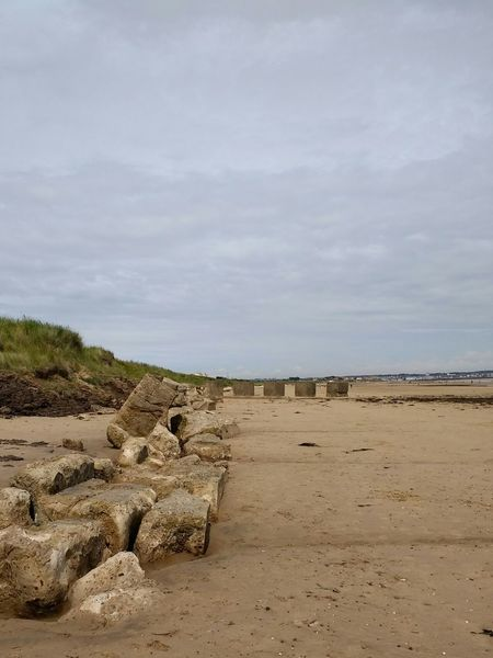 Sand Beach Concrete Concrete Defences Fraisthorpe Sea DefencesWw2 sea defences at fraisthorpe beach, yorkshire