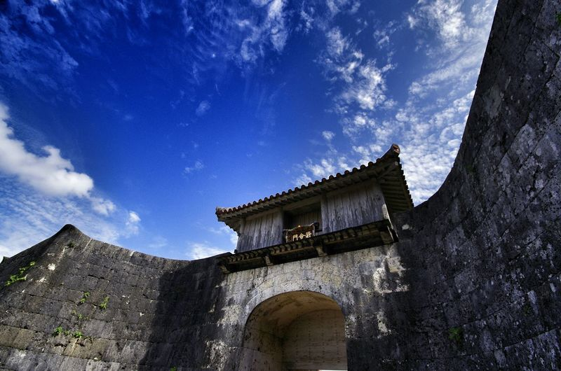 Low Angle View Of Shrine Against Sky