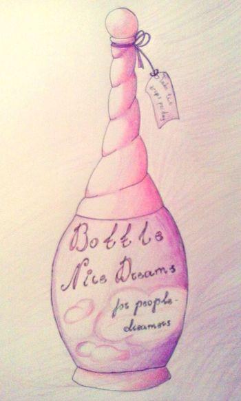 Bottle Nice Dreams Potion Bottle Dream Art Drowing