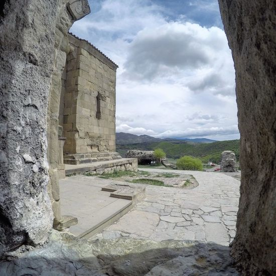 Architecture Architecture ASIA Beautiful Built Structure Caucasus Cloud - Sky Day Fisheye FishEyeEm Georgia Gopro Goprohero4 History Jvari Jvari Monastery Mccheta Monastery Monastery Of Stone No People Old Ruin Orthodox Church Sky Spring Tbilisi