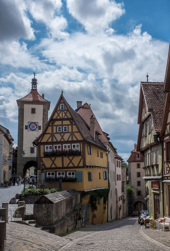 Historic medieval city buildings of Rothenburg ob der Tauber Altstadt Architecture Bavaria Bayern Building Deutschland Exterior Façade Fairytale  German Germany History Houses Medieval Mittelalter Old Town Outdoors Residential Structure Rothenburg Ob Der Tauber Square Wood