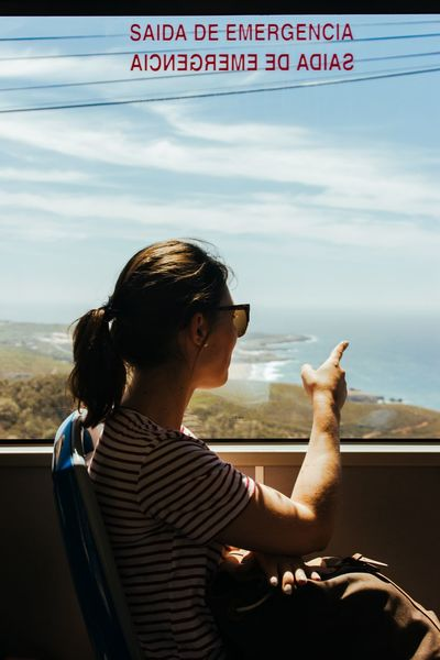 Trip to Cabo Portugal Travel Destination Travelling Travel Bus Real People Transportation Mode Of Transport Sky One Person Day Cloud - Sky Lifestyles Land Vehicle Window Looking Through Window Outdoors People Sitting EyeEmNewHere