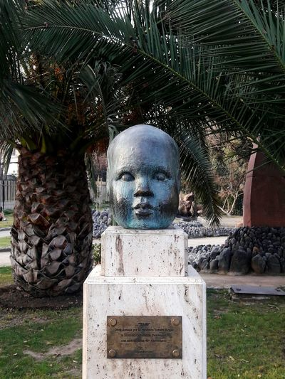 Sculpture Head Sculpture HEAD Palm Trees Chile Santiago Art Sculpture Garden Park Parque  Parque De Esculturas Esculturas Y Estatuas Cabeza