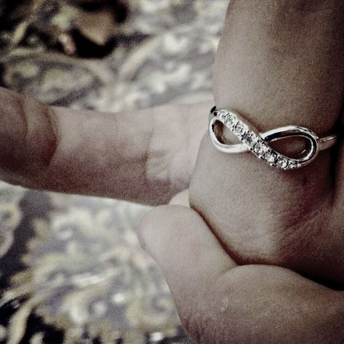 loving my infinity ring I got from church last weekend???