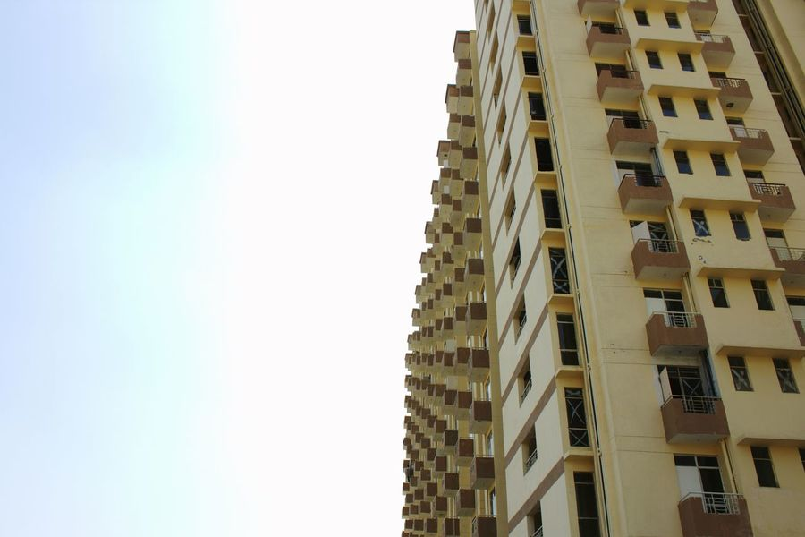 Apartment Buildings Apartment Building Afternoon Mypointofview Photography No People New Building  Check This Out Time Pass  Hanging Out India The Architect - 2016 EyeEm Awards Look Up The Sky Get Outdoors Clicking Photos My Shot  Residential Structure Residential Building