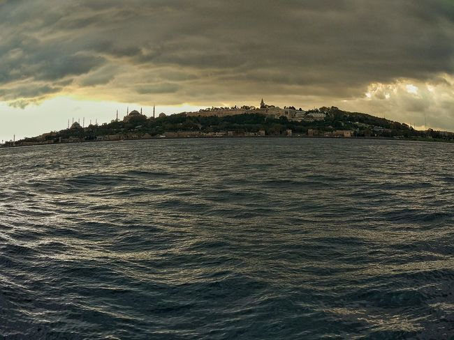 Sea Cloud - Sky Dramatic Sky Outdoors Beauty In Nature Landscape No People Sky Istanbul PhonePhotography Boğaz Topkapi Palace Turkey Fisheye Perfect Goodphotography