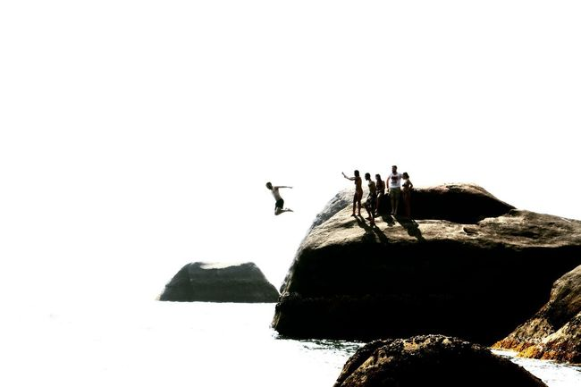 India, from cliff. White Background Clean Background Cliff Jumping Sea #India Goa #Freedom #jump #photography #Canon #Adventure #Mountain Bird Adventure Mountain Colony Silhouette RISK Following Shore Ocean Surf Diving Coast Rock Formation Horizon Over Water Energetic Stunt