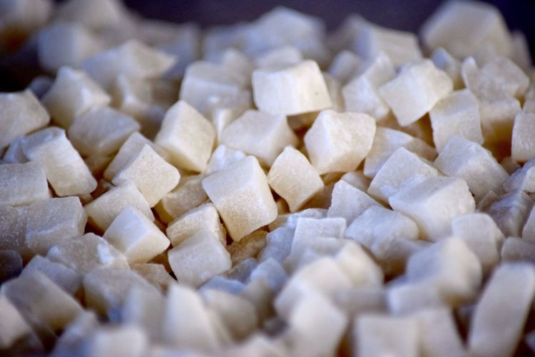 Full frame shot of coco cubes