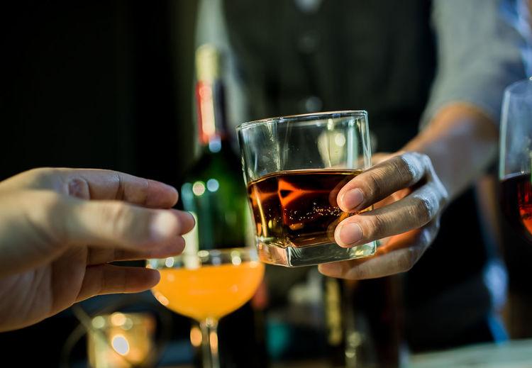 Bartender hand