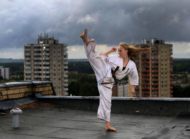 City Cloud - Sky Day Karate Karategirl Karatelife Kyokushin KyokushinkaiKarate Kyokushinkan One Person Outdoors Sky Sport Sports Photography Storm Cloud