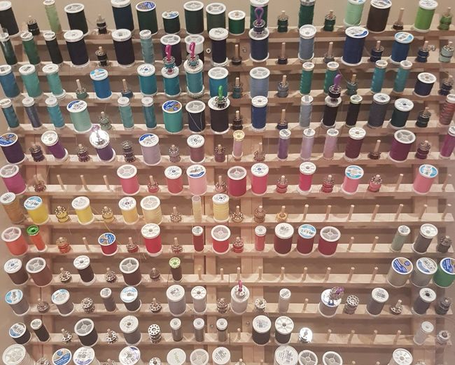 Multi Colored Variation Threads Spools Of Thread Spools In A Row Sewing Accessories