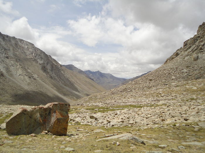 Natural Rock Painting Natural Rock Surface As Background On Kailas Yatra Mountain Sky Cloud - Sky