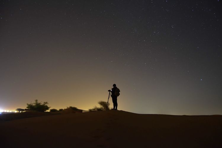 Photographer @night Night Star - Space Sky Astronomy Space Scenics - Nature Star One Person Beauty In Nature Standing Star Field Men Land Galaxy Space And Astronomy