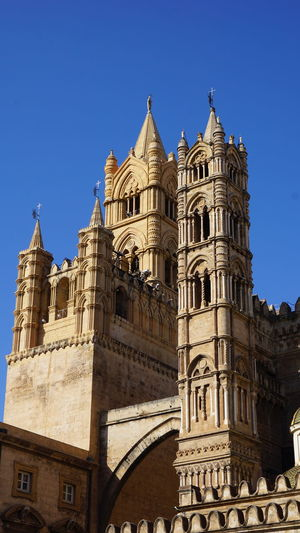 Towers. Cathedral of Palermo. Palermo, Sicily, Italy. Sony Sony A6000 EyeEm Best Shots Photographer Sonyalpha Photography Photo Italy Sicily Palermo EyeEm Selects Palermo Cathedral Cathedral Palermo Towers Arch City Clear Sky Architecture Sky Building Exterior Historic Cathedral History Place Of Worship Historic Building Catholicism Dome Church Christianity