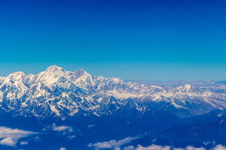 From Above  Himalayas Aerial Aerial Photography Aerial View Beauty In Nature Environment From An Airplane Window Mountain Peak Mountain Range Nature No People Outdoors Sky Snowcapped Mountain