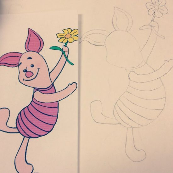 My drawing of Piglet