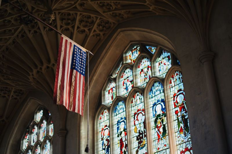 EyeEm Selects Stained Glass Architecture Glass Indoors  Building Built Structure Glass - Material Religion Place Of Worship Belief Low Angle View Arch Ceiling Day Window Architecture And Art Arched Spirituality No People Ornate