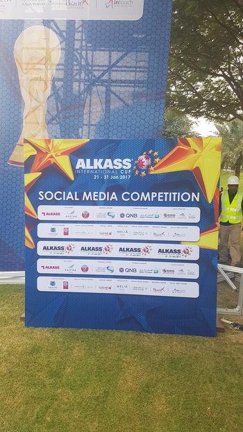 Alkass International Cup Alkass International Cup 2017 Brand Expression Branding Backdrop