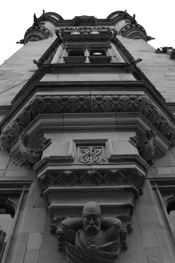 Architecture Black And White Building Exterior City Chambers Dunfermline Fife  Low Angle View Nikon Scotland
